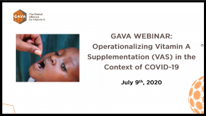 Webinar: Operationalizing VAS in the context of COVID-19