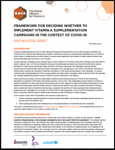 Decision-making framework for VAS campaigns during COVID-19